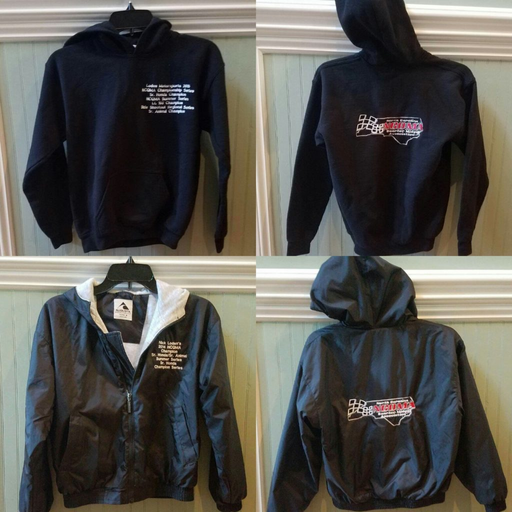 Hoodie (top) and Jacket (bottom) Examples